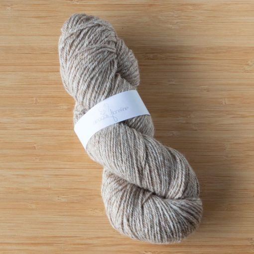 fil alpaga tweed fauve clair et blanc