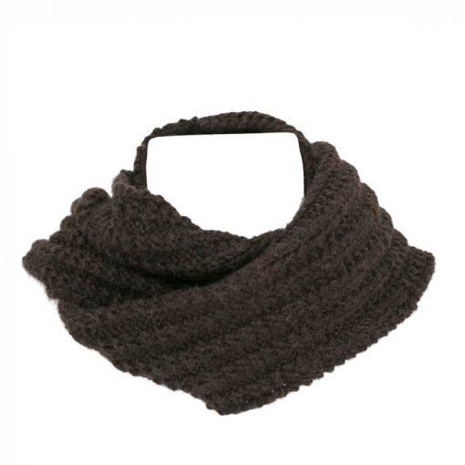 foulard alpaga côtes alternées sport brun