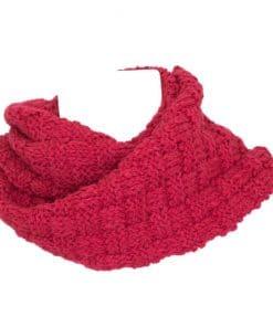 Foulard en alpaga tressé rouge valentin en tricot