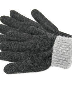 Gants alpaga doubles et réversibles gris et charcoal - vue 2
