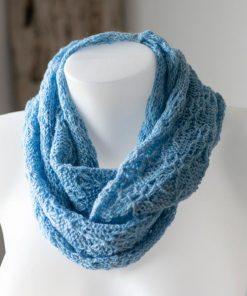 foulard alpaga bleu infini léger