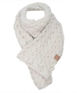 Foulard en alpaga blanc naturel collection Arizona