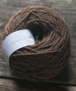 laine alpaga fil à tricoter dk fauve foncé couleur naturelle