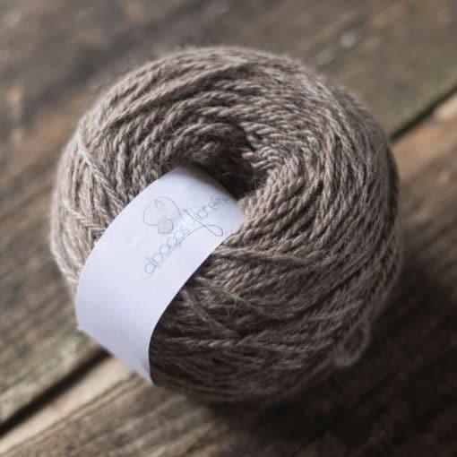 fil alpaga à tricote laine rosegris couleur naturelle DK