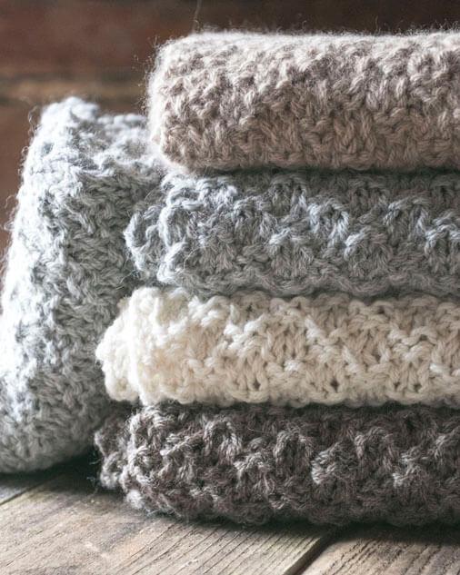 foulard alpaga tricot texture carré collection Delphy