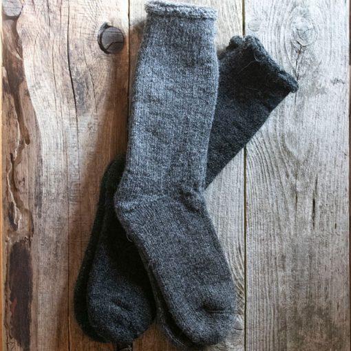 Bas alpaga thermal Le frileux gris moyen et gris foncé charcoal