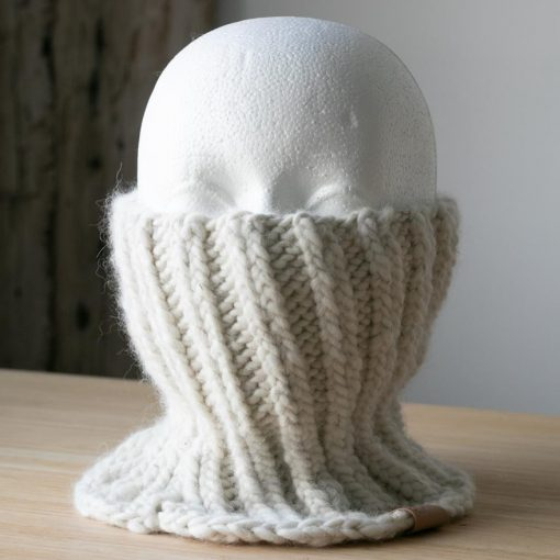 Cache-cou alpaga blanc naturel sans teinture