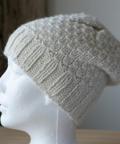Tuque alpaga blanc naturel 100% alpaga