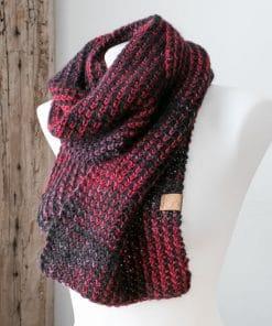 Foulard alpaga Morgana rouge framboise